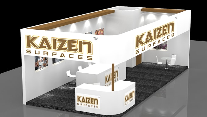 Exhibition Stand Design 3d Max : Make d designs of exhibition stand in ds max at lowest price by