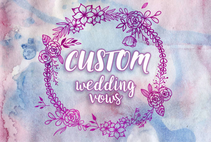 Create Beautiful Vows For Your Wedding Day