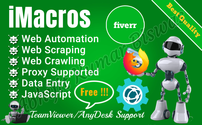 do imacros web automation data scraping crawling collection