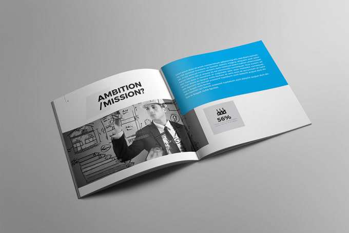 Design Corporate And Professional Square Brochure Template