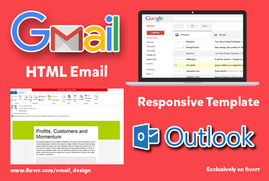 Create Html Email Template For Your Gmail Or Outlook By Email Design