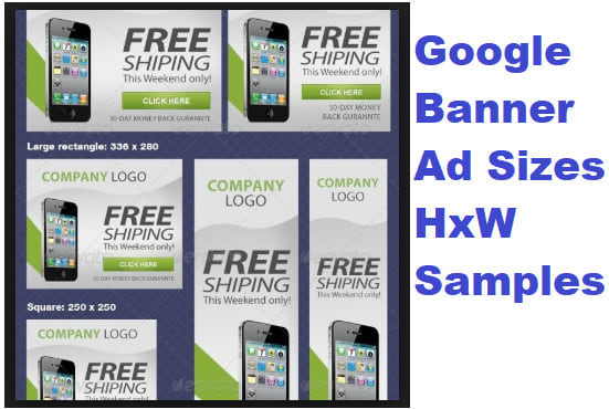 Create Google Facebook Banner Ads Sizes By Johnworktime