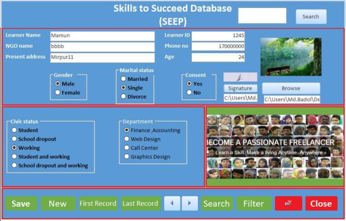 mdalmamunbadol : I will design a database using microsoft access and excel  for $10 on www fiverr com