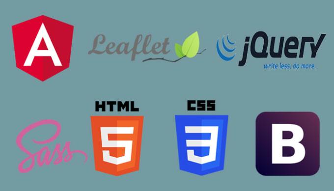 do angularjs, javascript, ajax, leafletjs, html5, css3