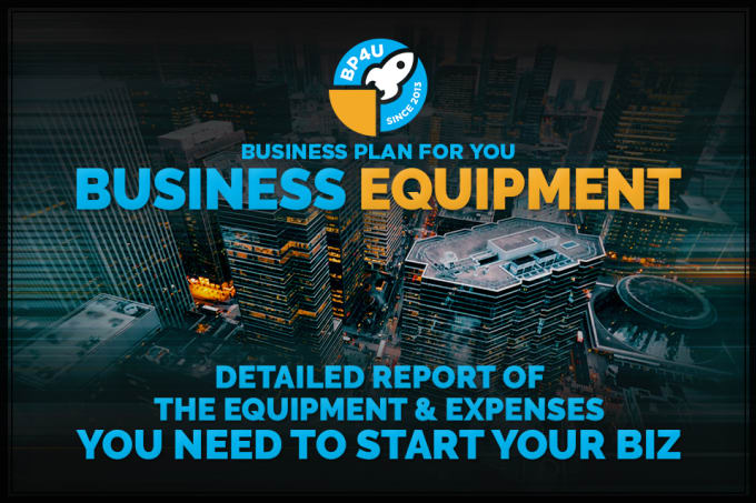 prepare a custom list of business equipment and expenses by bssp4u