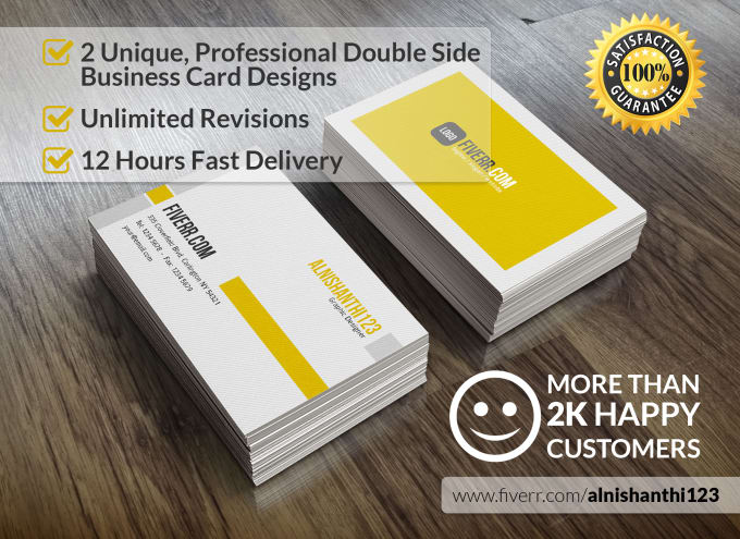 Design 2 professional business cards with unlimited revisions in 12 design 2 professional business cards with unlimited revisions in 12 hours reheart Images