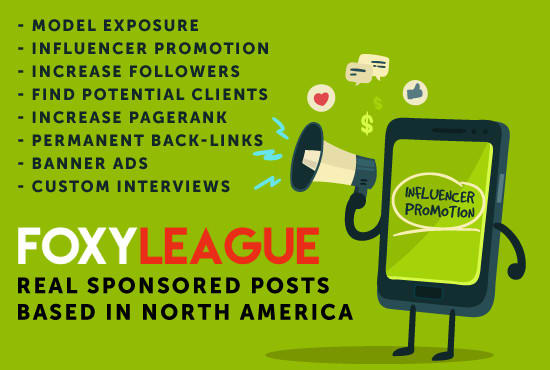 promote your modeling career on foxyleague, females only