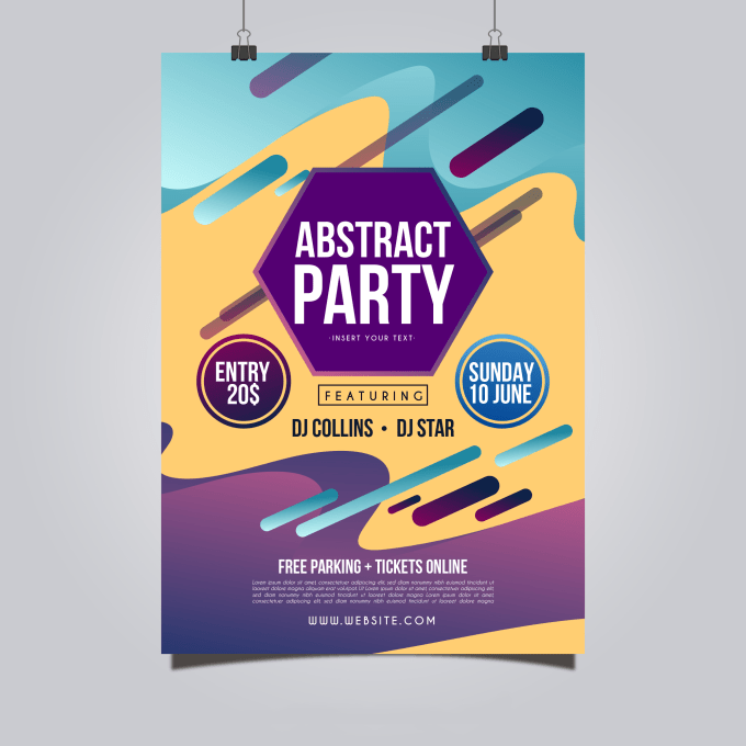 gonna make your cool poster and flyers by companymode