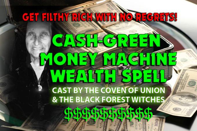 coven cast billionaire wealth spell, fortune money magick