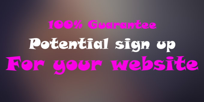 do sign up for your referral link or URL sign up