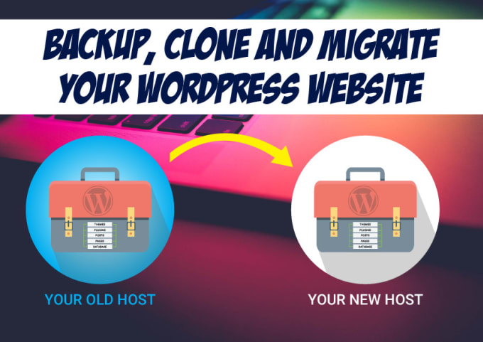 securely backup, clone and migrate your wordpress website