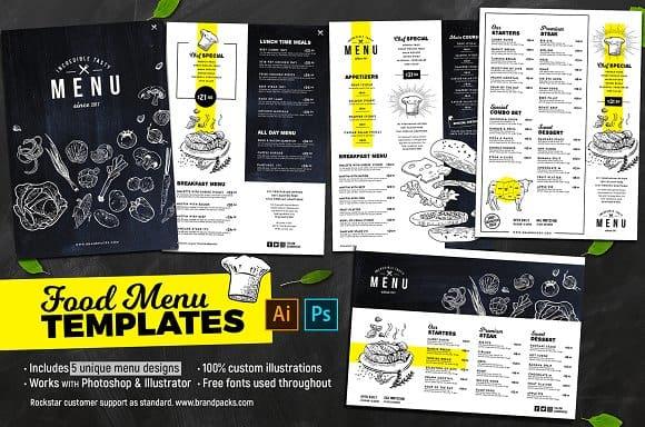 design an irresistible restaurant menu flyer menu food menu by