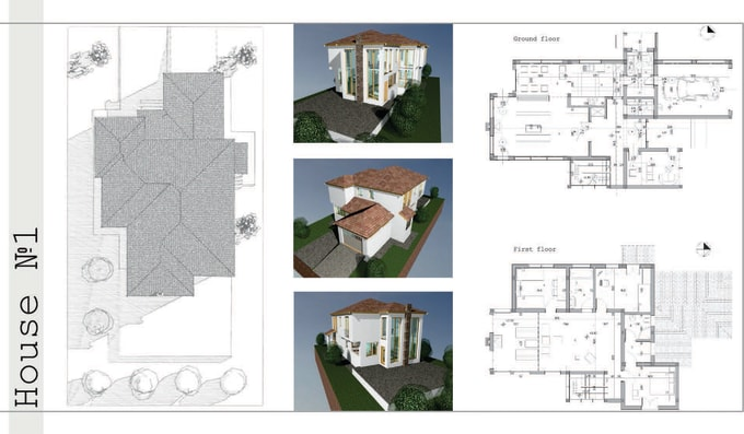 do 2d floorplans and 3d model in archicad and autocad