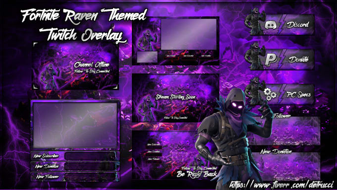 sell you this fortnite twitch overlay package by detrucci. Black Bedroom Furniture Sets. Home Design Ideas