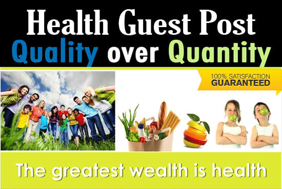 publish health fitness medical guest post on real sites