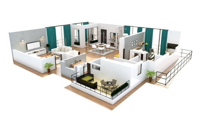 Professionally Create 3d Floor Plan Exterior And Interior Model Sketchup