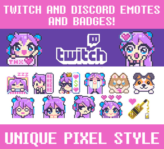 create a unique pixel emote for twitch or discord
