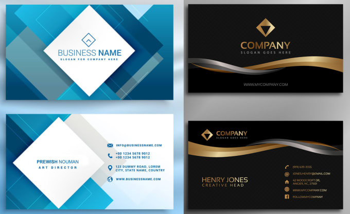 Design Business Card Or Invitation Card And Banners