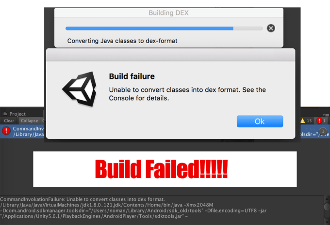 fix unity build error or crashes android or ios
