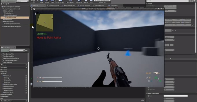 educba : I will teach first person shooter game development using unreal  engine 4 for $10 on www fiverr com