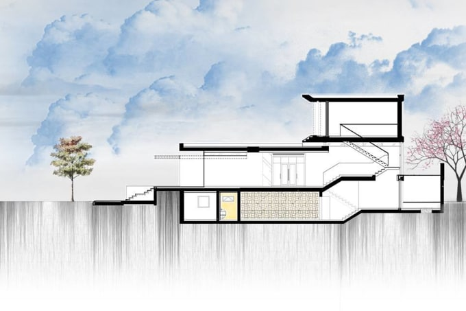 Create 2d Architecture Elevation Rendering By Zyed Bz