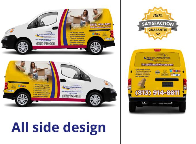 Do Professionalvehiclecartruck Or Van Wrap Designmockup