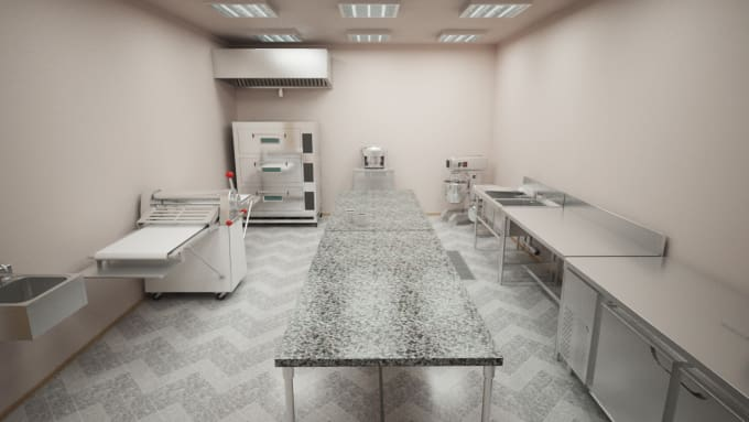 Design Model And Render Your Commercial Kitchen By Huyhao Custom Comercial Kitchen Design Model
