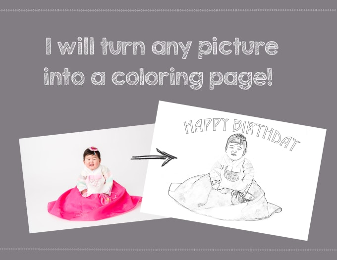 turn any picture into a coloring page