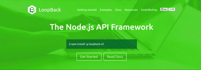 implement rest api and webapp in node js