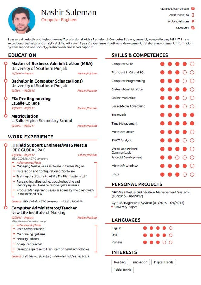 I Will Write A Professional Cv And Cover Letter Also Help In IT