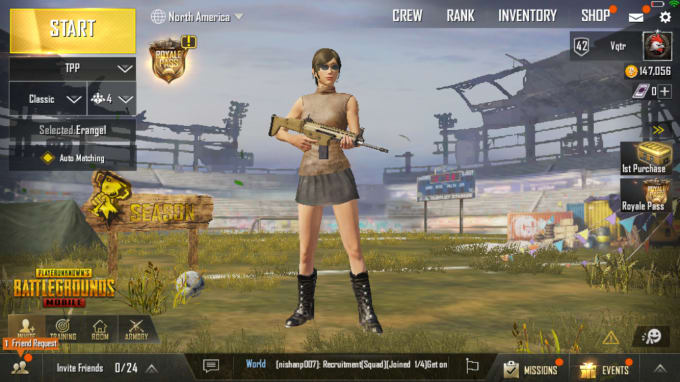 vqtr26 : I will play with you to rank up on pubg mobile for $5 on  www fiverr com