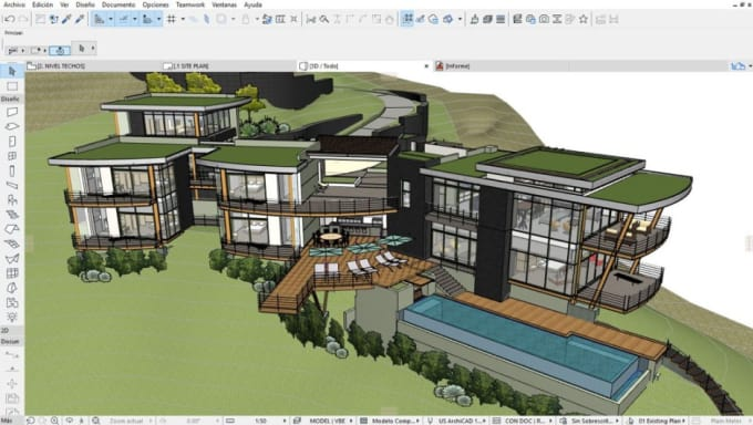 transfer your autocad 2d files dwg to archicad 3d pln