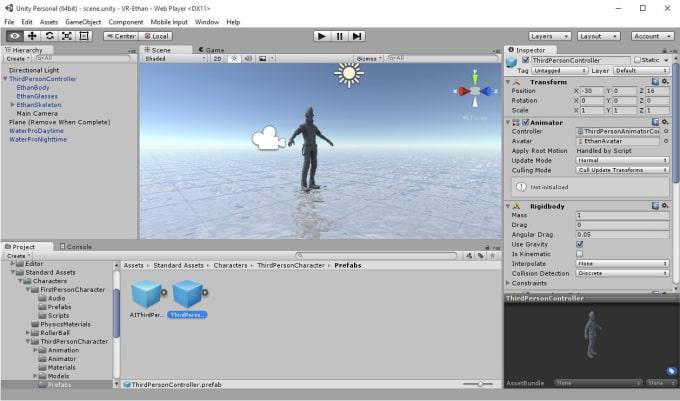 make 3d models in unity3d