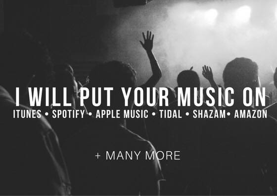 put your music on itunes, apple music, spotify, tidal and more
