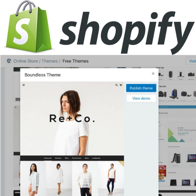 design and create a shopify dropshipping store for you