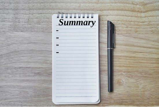 how to write the perfect summary