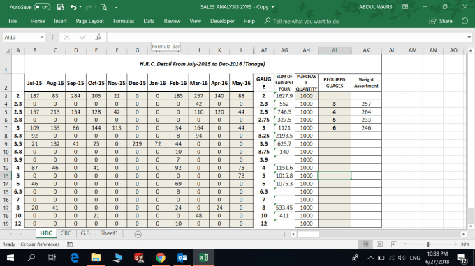 abdulwaris153 : I will create ms excel spreadsheet calculator for $25 on  www fiverr com