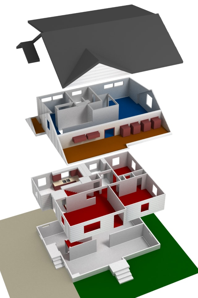 Make A 3d Exploded House Or Building Diagram By Ledamedrano