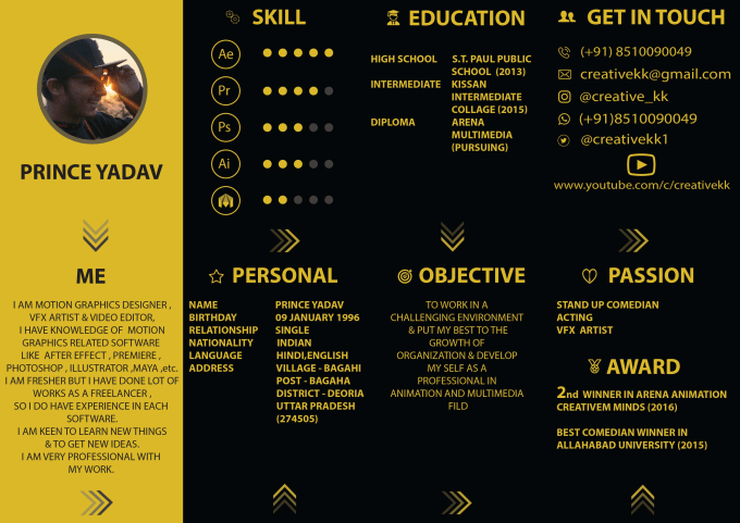 create a custom resume design resume  cv resume design in 24h by creativekk13