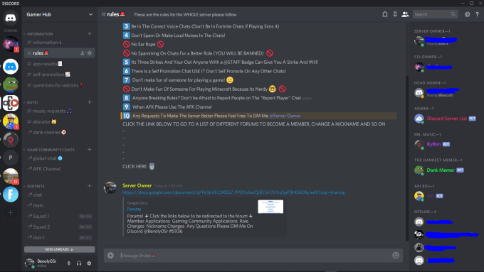 make a personal discord server for you