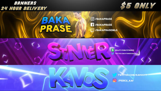 Design A Professional Gaming Youtube Or Twitter Banner