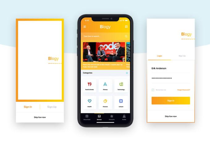 do mobile app ui design for iphonex ios