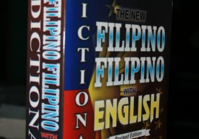 legitasfxck : I will translate filipino to english and also english to  filipino for $5 on www fiverr com