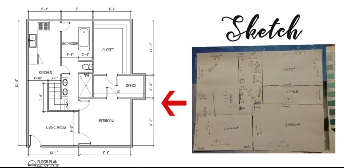 Do draw floor plan architecture drawing