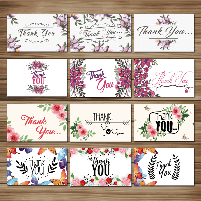 design creative thank you card by emmirell