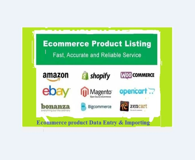do ecommerce product listing manually or bulk via CSV