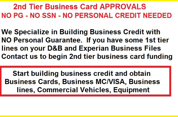 Business Credit Approvals No Up Front Fees By Creditpipsway