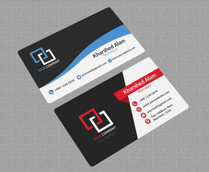 cecc736d098d6 Design professional business card print ready by Kharshed