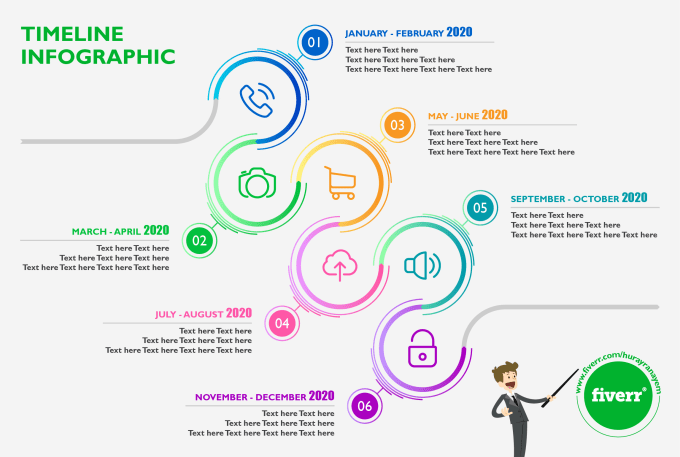 create unique and professional timeline infographic by hurayranayem