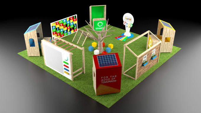 3d Exhibition Booth Design : Design your d exhibition booth kiosk by abdulbasit